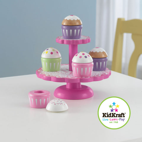 Kidkraft Cupcake Stand with Cupcakes - Harvey & Haley