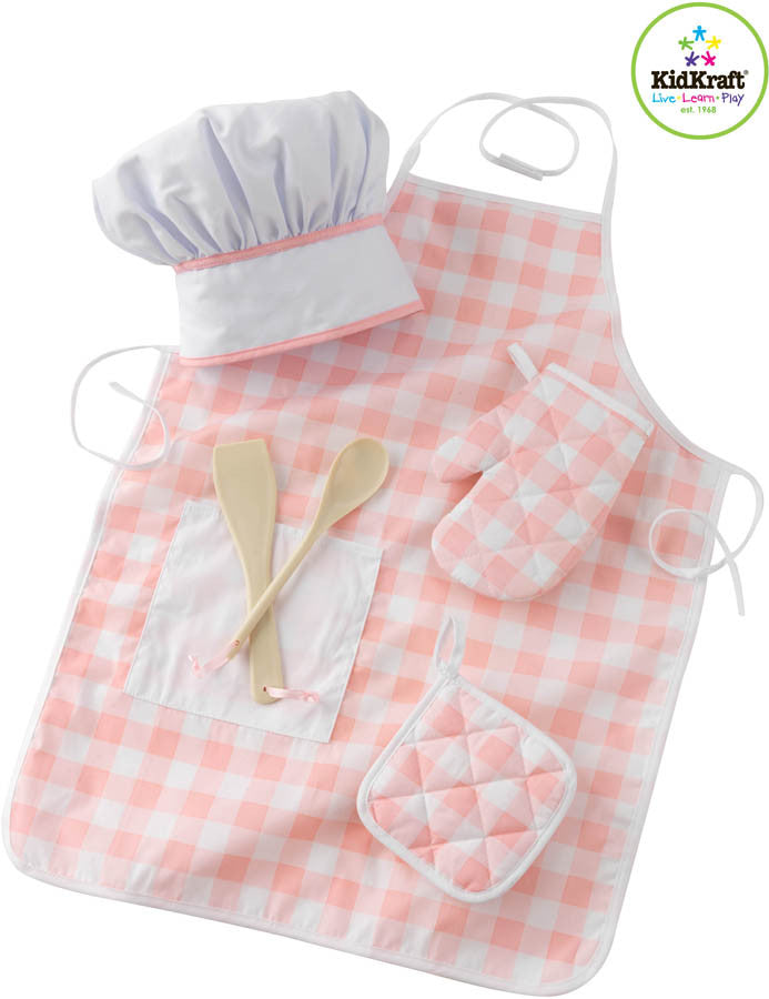 Kidkraft Tasty Treats Chef Accessory Set Pink - Harvey & Haley