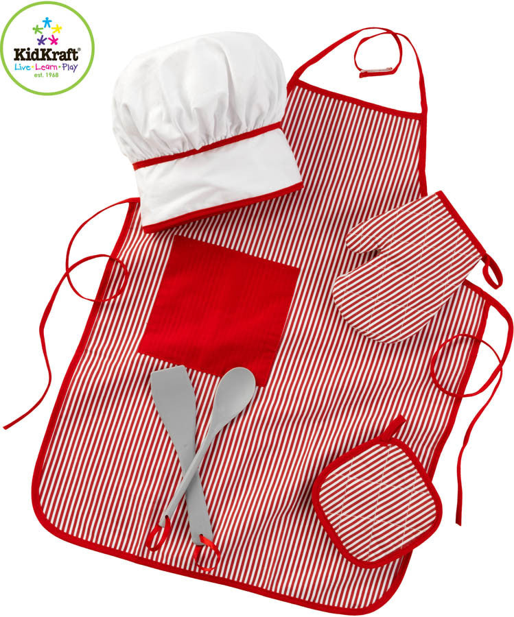 Kidkraft Tasty Treats Chef Accessory Set Red - Harvey & Haley