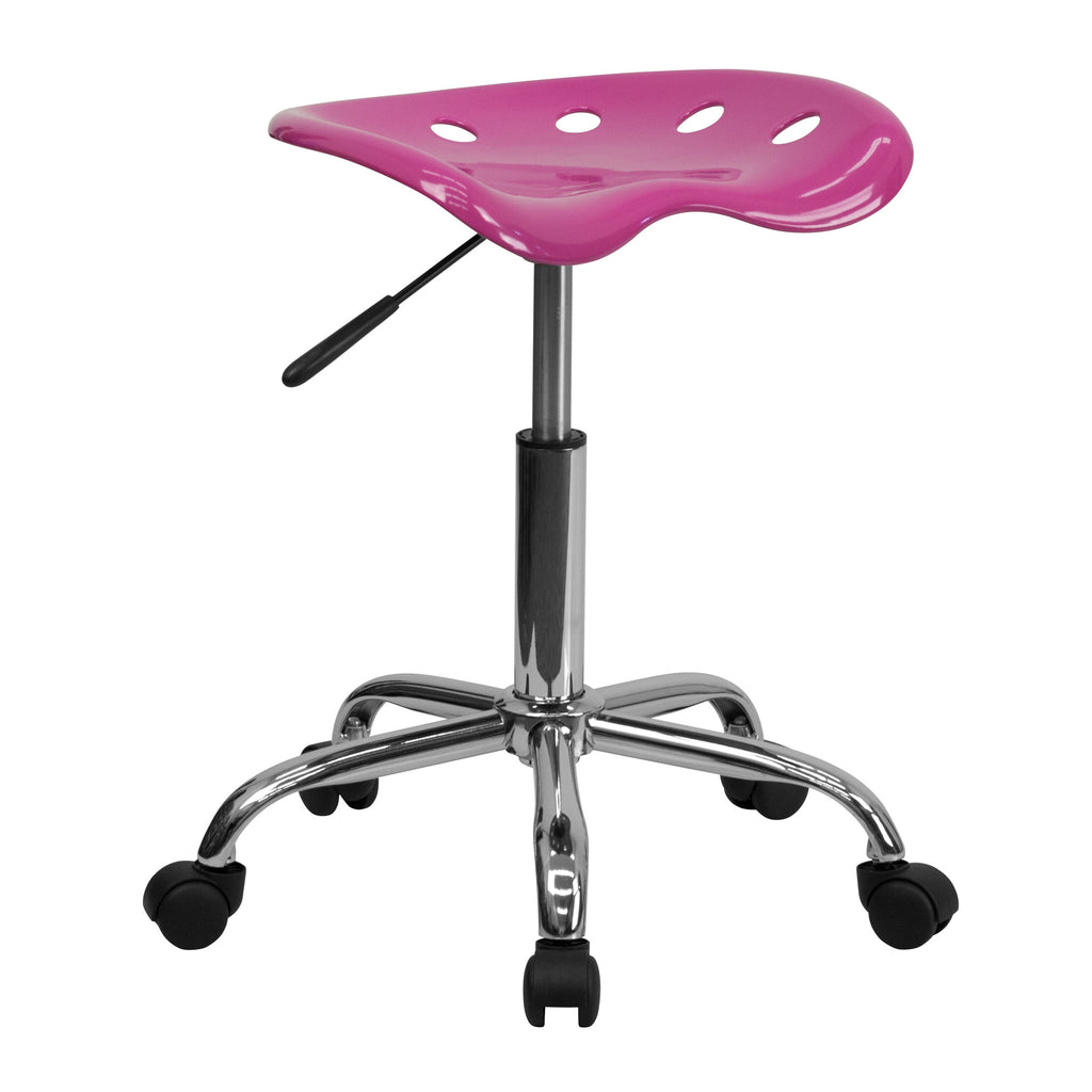 Vibrant Candy Heart Tractor Seat & Chrome Stool - Harvey & Haley