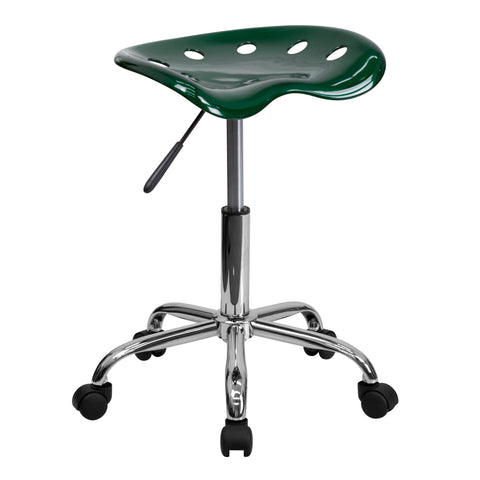 Vibrant Green Tractor Seat and Chrome Stool - Harvey & Haley