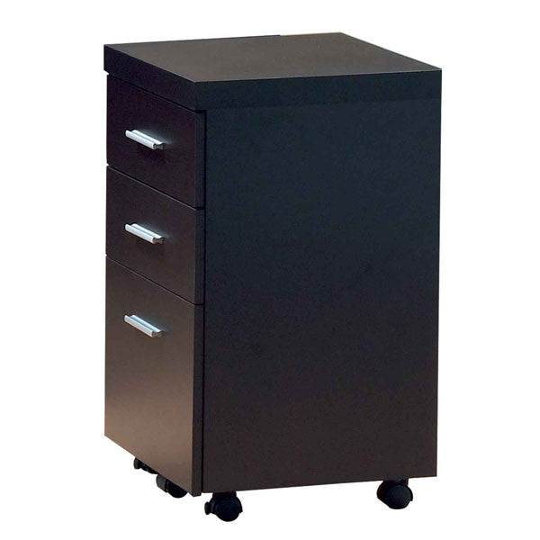 CAPPUCCINO HOLLOW-CORE FILE CABINET ON CASTORS (CAPPUCCINO) (27H x 16W x 16D) - Harvey & Haley