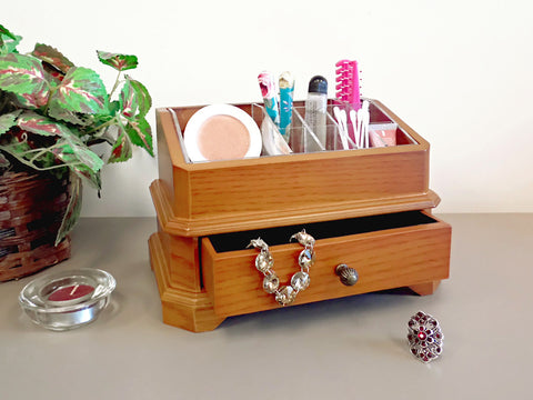 Proman Bellissimo Rome Cosmetic Organizer, Single Pull Out Drawer - Harvey & Haley