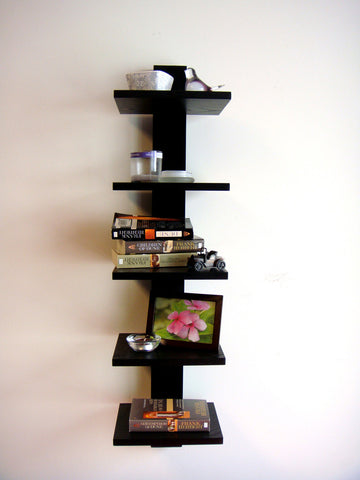 Proman Black Spine Wall Mounted Book Shelves - Harvey & Haley