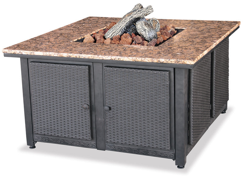 Lp Gas Outdoor Firebowl With Granite Mantel - Harvey & Haley