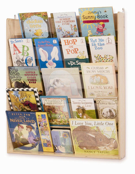 Whitney Bros Wall Book Display with 5 Shelves - Harvey & Haley