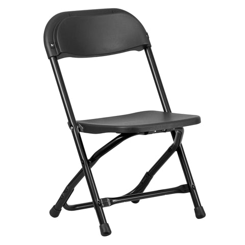 Kids Black Plastic Folding Chair - Harvey & Haley