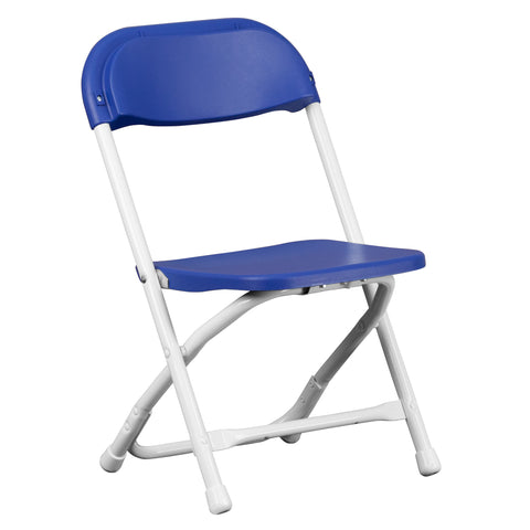 Kids Blue Plastic Folding Chair - Harvey & Haley