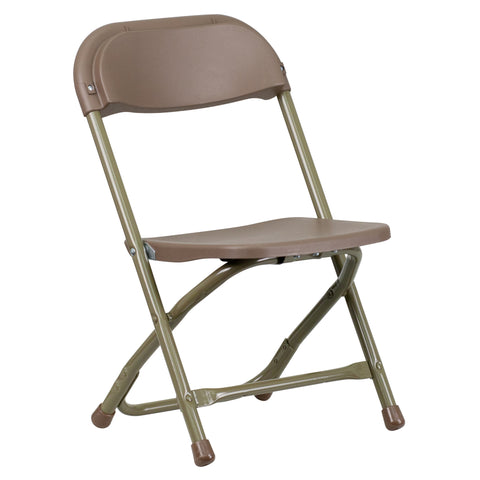 Kids Brown Plastic Folding Chair - Harvey & Haley