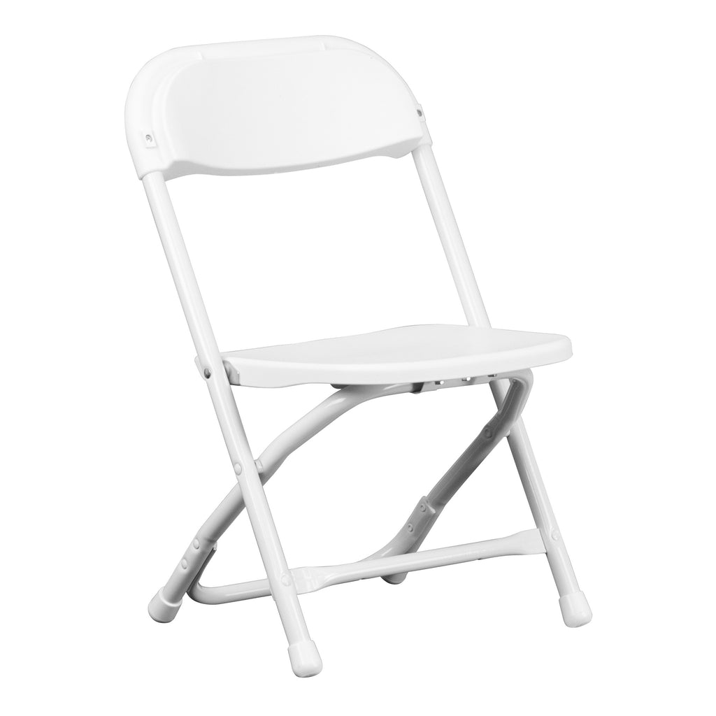 Kids White Plastic Folding Chair - Harvey & Haley