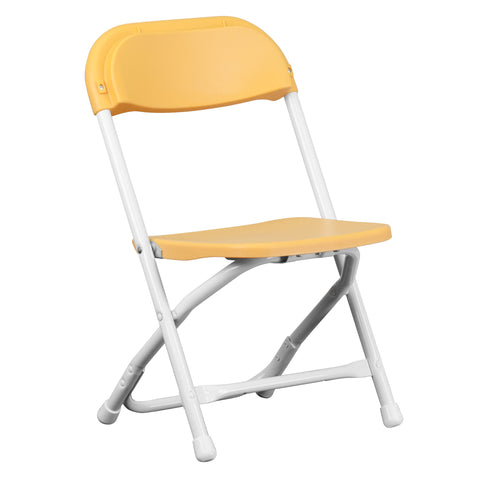 Kids Yellow Plastic Folding Chair - Harvey & Haley