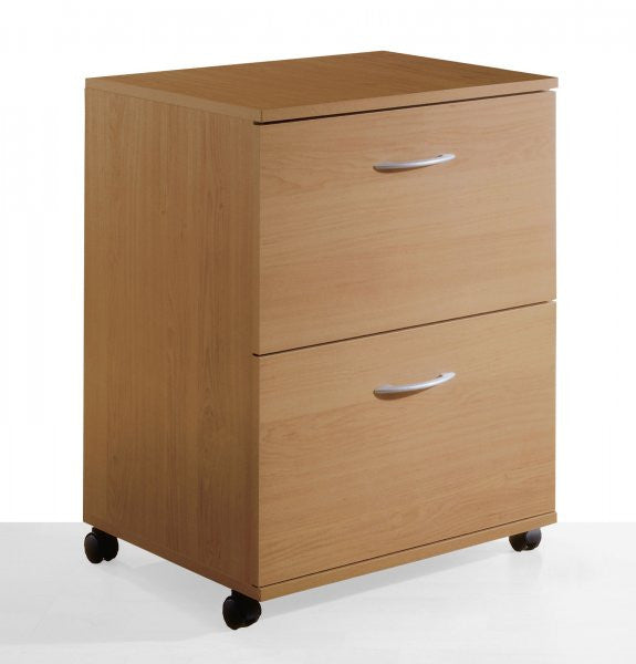 "Two-drawer Mobile Filing Cabinet - Filing where you need it (Natural Maple) (26.625""H x 18.625""W x 17.625""D) - Harvey & Haley"