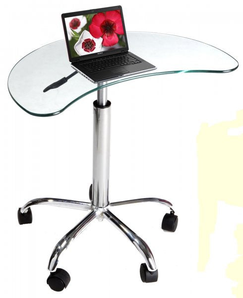 "Laptop Stand with Casters (Clear) (31.5""H x 25.5""W x 15.5""D) - Harvey & Haley"