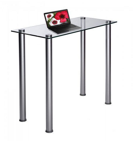 "Glass Utility Desk (Clear) (29.5""H x 35.5""W x 15.75""D) - Harvey & Haley"