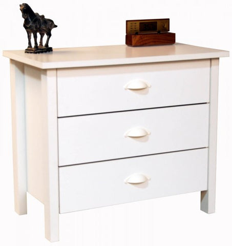 "Chest of Drawers - 3 Drawer (White) (24.75""H x 28.5""W x 16""D) - Harvey & Haley"