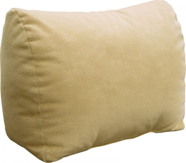 "Body Rest Back & Knee Pillow Wedge (Buff Microsuede) (14""H x 9.5""W x 17""D) - Harvey & Haley"