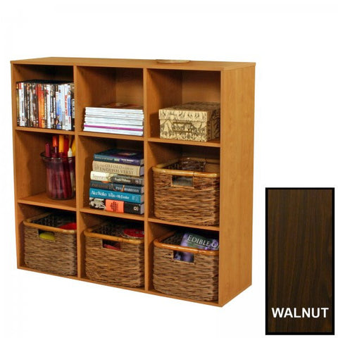 "Project Center Bookcase (Walnut) (36""H x 39""W x 11.5""D) - Harvey & Haley"