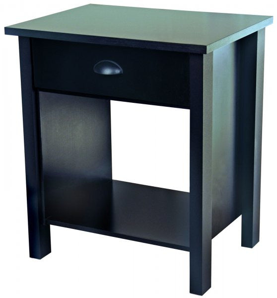 "Nouvelle Nightstand (Black) (24.75""H x 21.25""W x 16""D) - Harvey & Haley"
