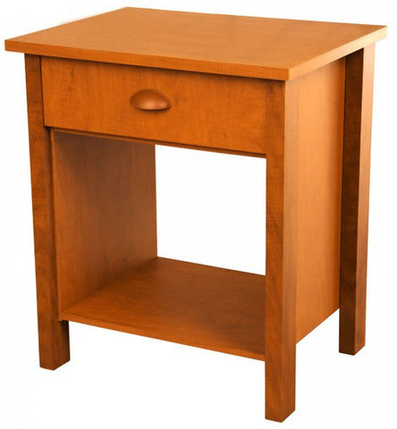 Nouvelle Nightstand (Cherry) (24.75H x 21.25W x 16D) - Harvey & Haley