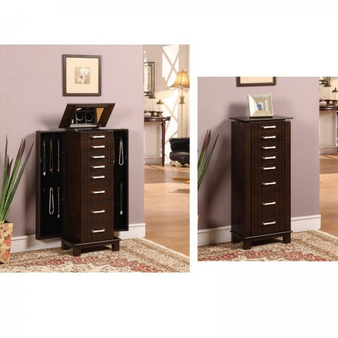 "St. Ives 7 Drawer Jewelry Armoire (Mahogany) (38.5""H x 16.63""W x 10.5""D) - Harvey & Haley"
