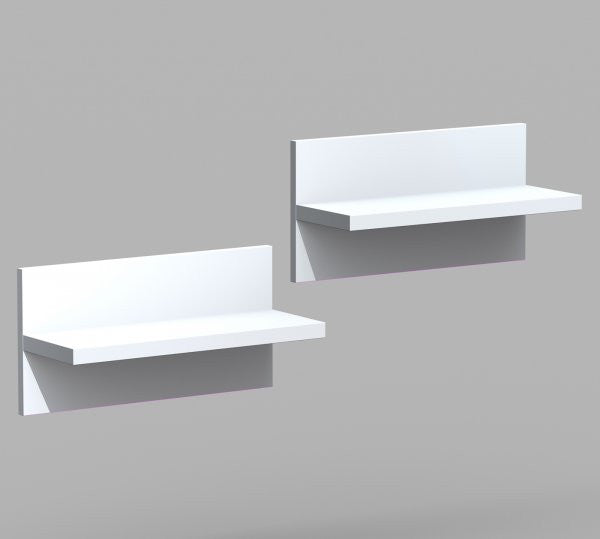 "Liber - T Wall Shelves - Two Pack (White) (9.5""H x 18.875""W x 7""D) - Harvey & Haley"