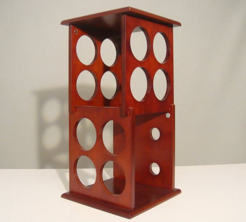 "Fuji Two Layer Wine Rack (Mahogany) (19""H x 9.5""W x 9.5""D) - Harvey & Haley"