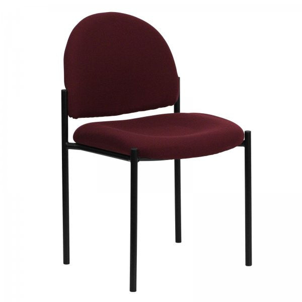 "Comfortable Stackable Steel Side Chair (Burgundy) (33.25""H x 20.75""W x 23.5""D) - Harvey & Haley"