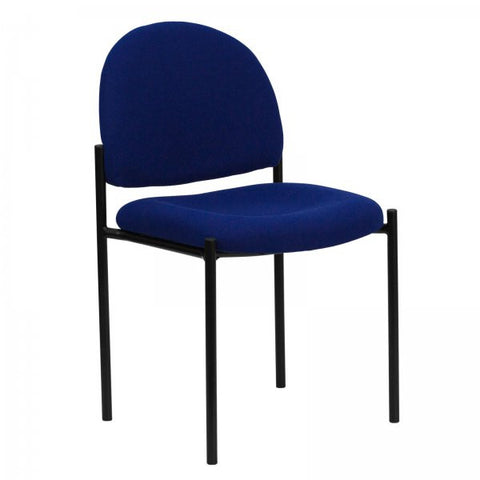 "Comfortable Stackable Steel Side Chair (Navy Blue) (33.25""H x 20.75""W x 23.5""D) - Harvey & Haley"