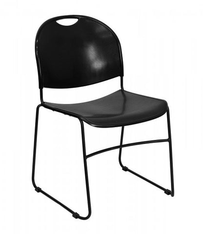 "HERCULES Series 880 lb Capacity High Density Ultra Compact Stack Chair (Black) (31""H x 19.5""W x 20.75""D) - Harvey & Haley"