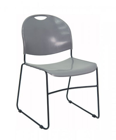 "HERCULES Series 880 lb Capacity High Density Ultra Compact Stack Chair (Gray and Black) (31""H x 19.5""W x 20.75""D) - Harvey & Haley"