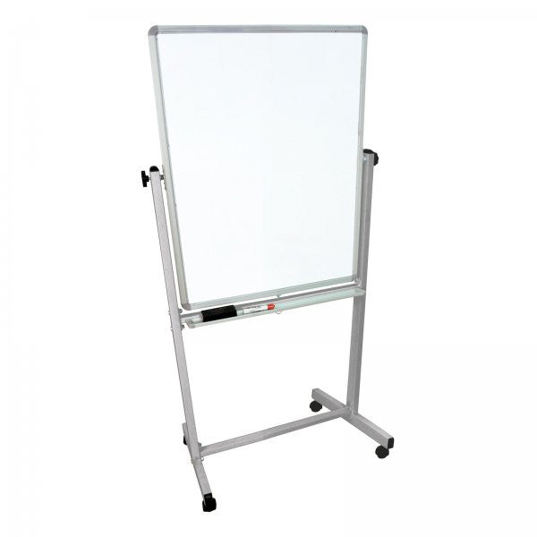 "2-Sided Mobile Whiteboard (White) (68""H x 35.75""W x 20.5""D) - Harvey & Haley"