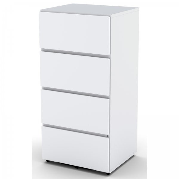 "Blvd Storage Module with 3 Drawers (White) (36.75""H x 18""W x 15.5""D) - Harvey & Haley"