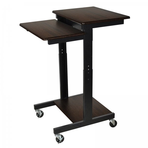 "Laptop / Projector Stand (Black / Walnut) (39""-45""H x 24""W x 31""D) - Harvey & Haley"