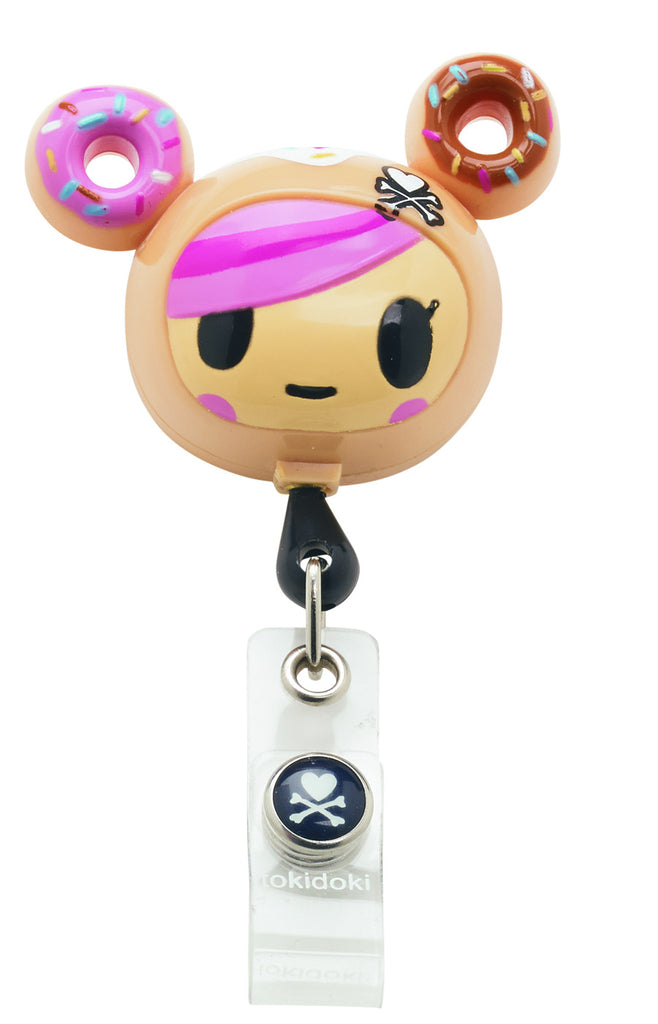 Tokidoki Donutella Retractable I.D. Badge Clip