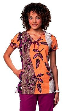 Koi Bridgette Top with Paper Mache Print