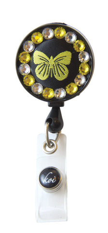 Koi Retractable IB Badge Reel - BUTTERFLY
