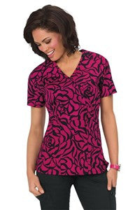 Stretch Joelle Top Zebra Rose