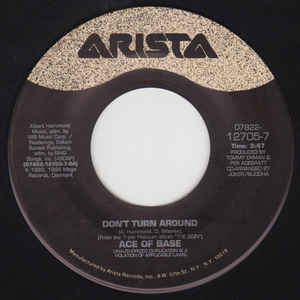 "Ace Of Base - Don't Turn Around (7"", Single)"