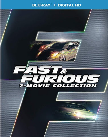 Fast & Furious 7-Movie Collection Blu-ray + Digital Box Set Blu-ray