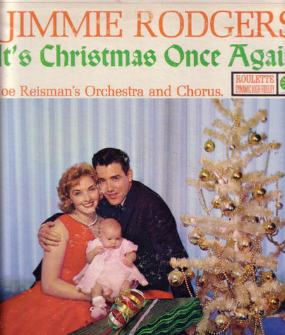 Jimmie Rodgers With Joe Reisman's Orch. & Chorus- It's Christmas Once Again (LP, Mono)