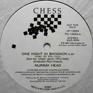 "Murray Head - One Night In Bangkok (12"" Lp)"