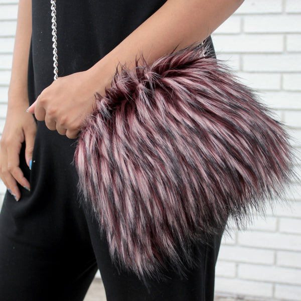 edgy fur purse