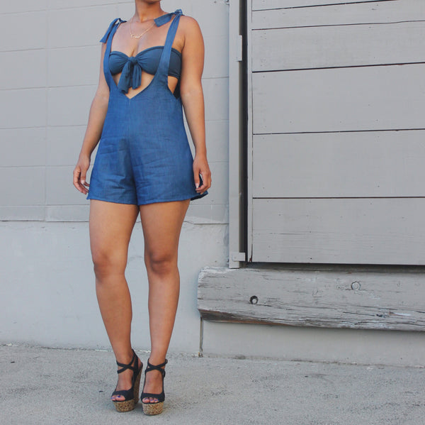 THE CHARLIE ROMPER DENIM
