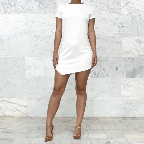 RESTOCK TSHIRT DRESS IVORY