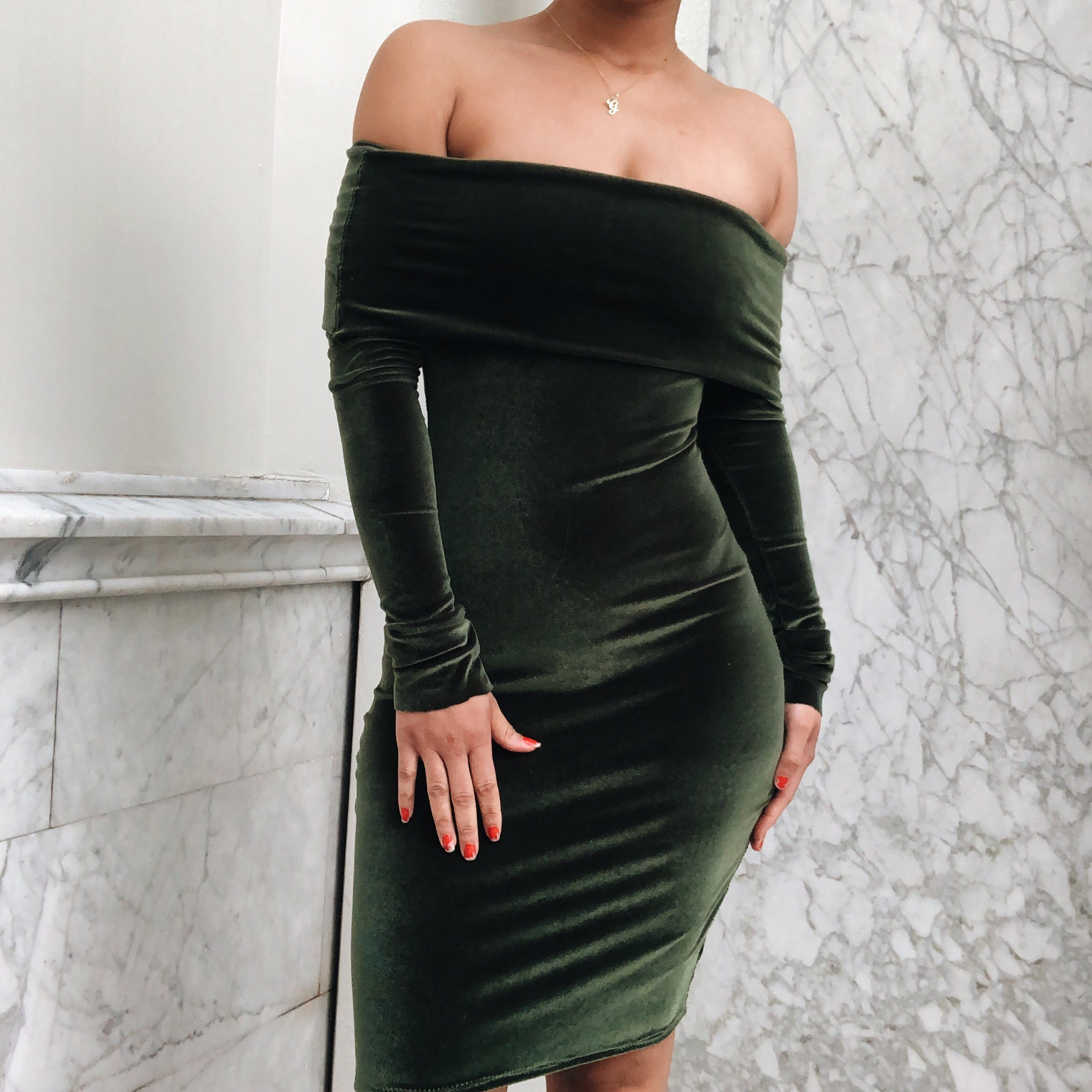 Cocktail Hour Dress Olive