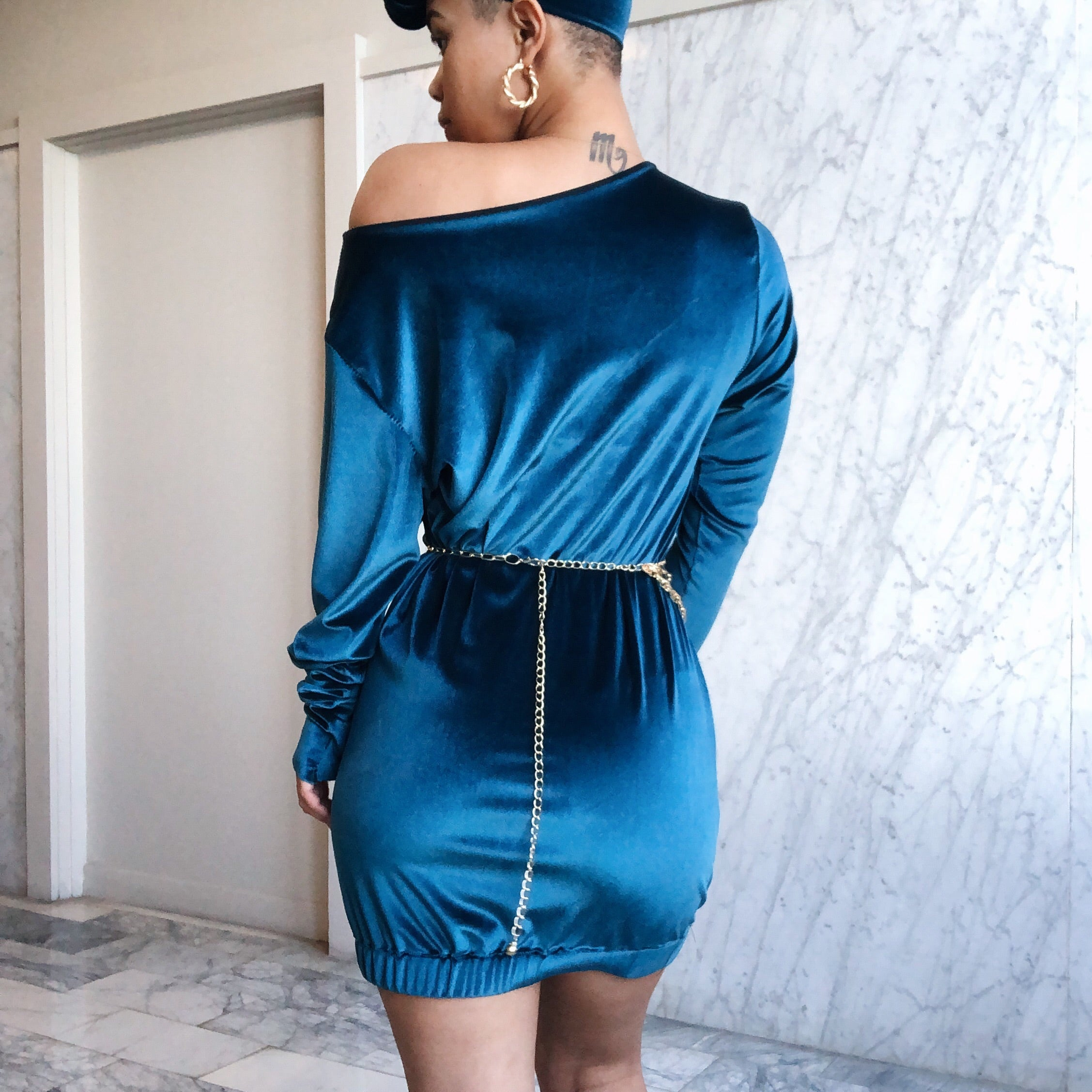 Rivah Dress Turquoise
