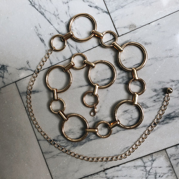 Infinity Chain Belt (silver or gold)