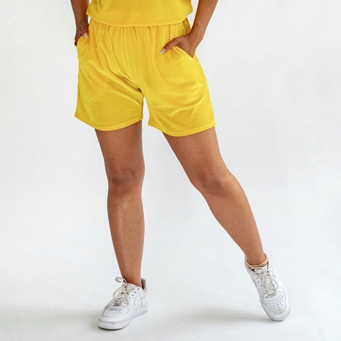 Monroe Unisex Shorts Lemon