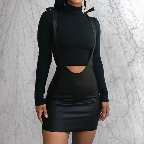 VEGAN LEATHER CHARLIE SKIRT SET