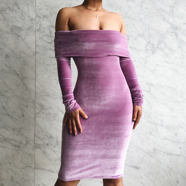 Cocktail Hour Dress Lavender